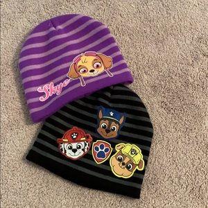 """Nickelodeon Accessories - ⚫️🟣 Kids """"Paw Patrol"""" Beanies Bundle 🟣⚫️"""